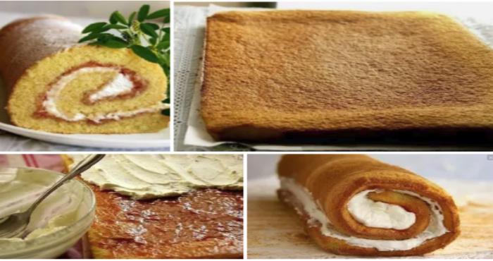 Бисквитный торт по очень уданому рецепту — пышный, мягкий, легко сворачивается!